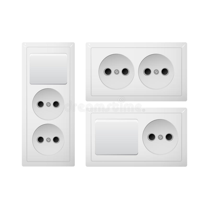 Socket Type C With Switch. Power Plug. Receptacle From South America ...