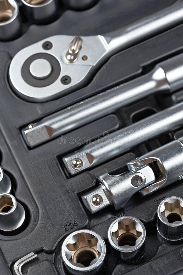 Socket wrench set royalty free stock image