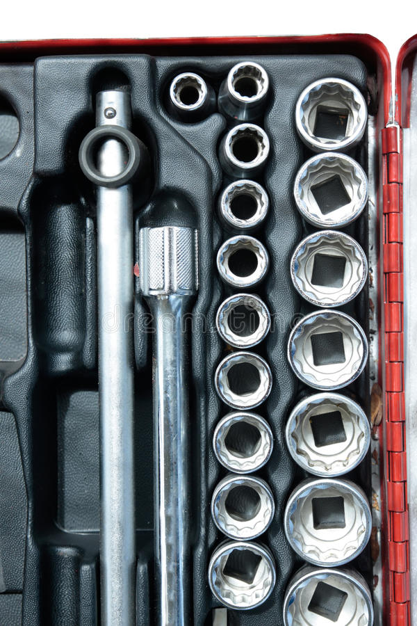 Download Socket wrench set stock image. Image of crate, combination - 26623511