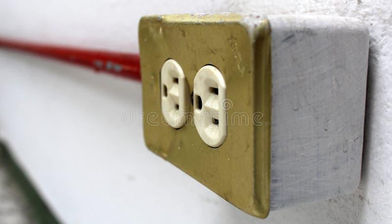 Socketes eléctricos imagenes de archivo