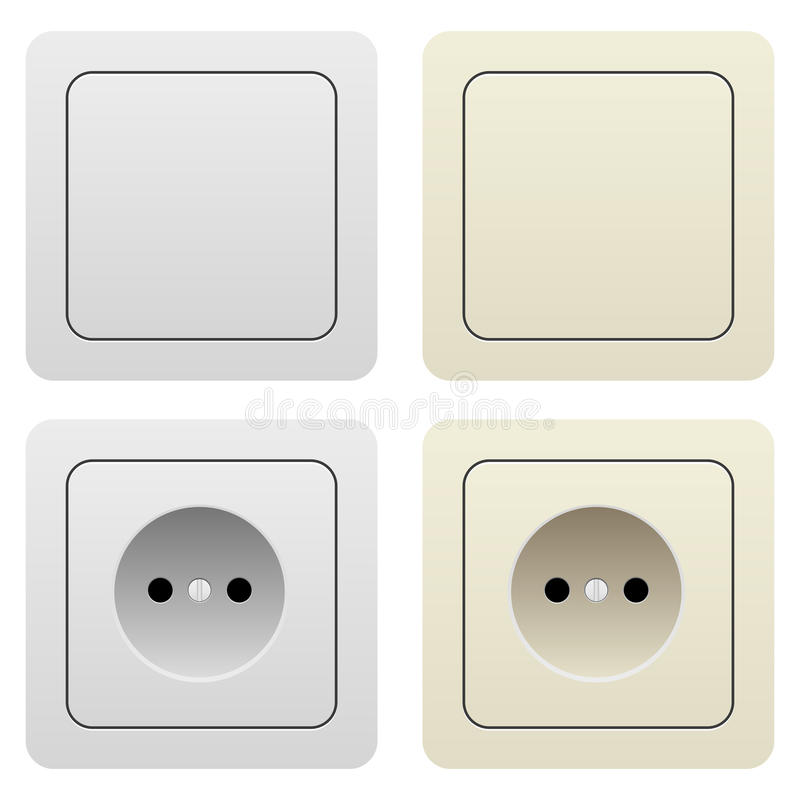 Download Sockets and switches stock vector. Illustration of consumption - 23236155
