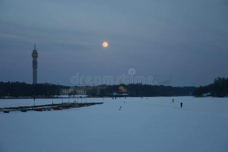 Sockholm in de Winter stock fotografie