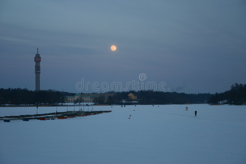 Download Sockholm in Winter stock photo. Image of walking, river - 118862