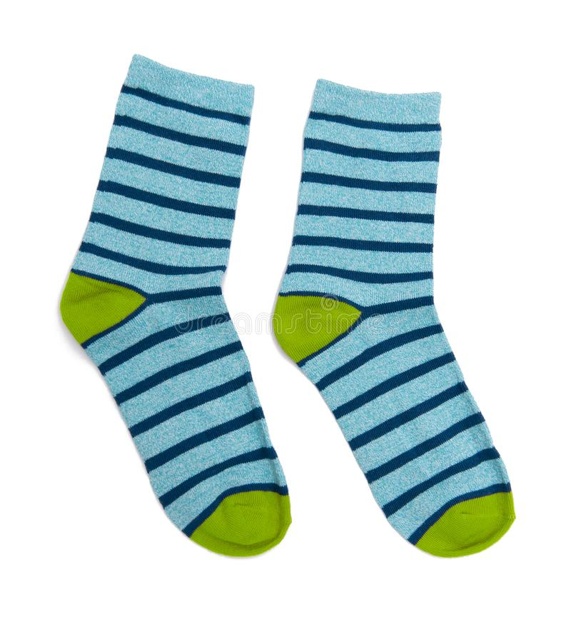 Socks isolated on the white royalty free stock photography