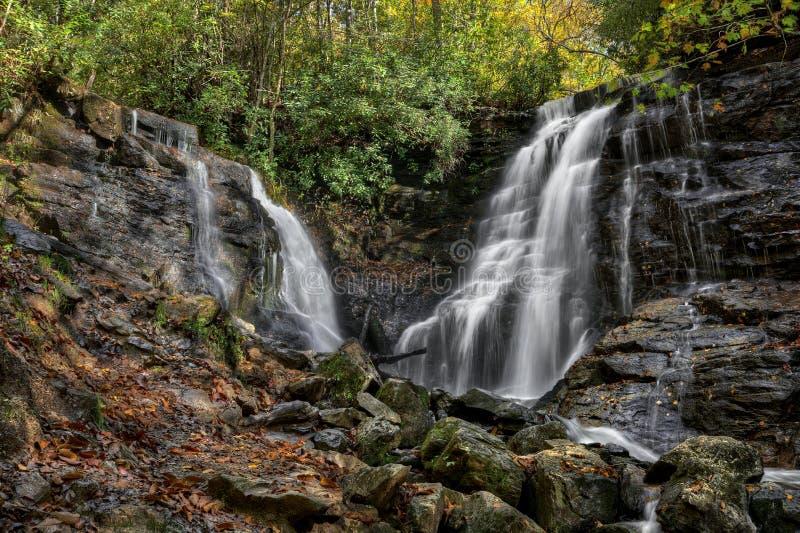 Soco понижается водопад стоковое изображение rf