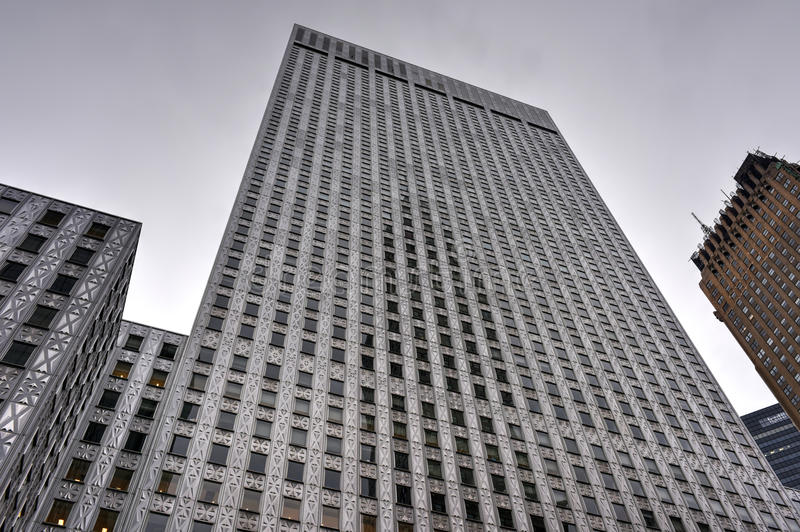 Socony-Mobil Oil Company Building, New York stock images
