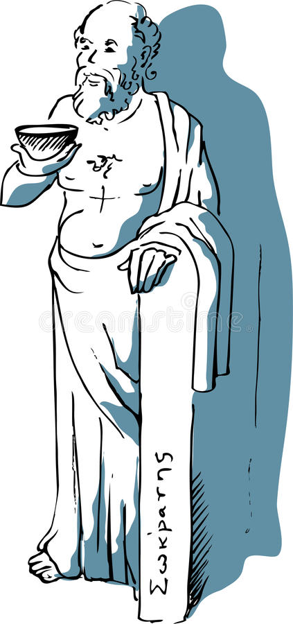 Socrates stock illustratie