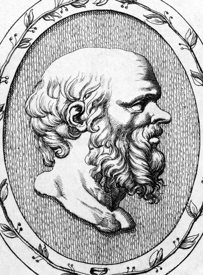 Socrates vektor illustrationer