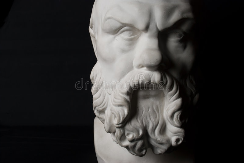 Socrates. Statue isolated on black background royalty free stock images