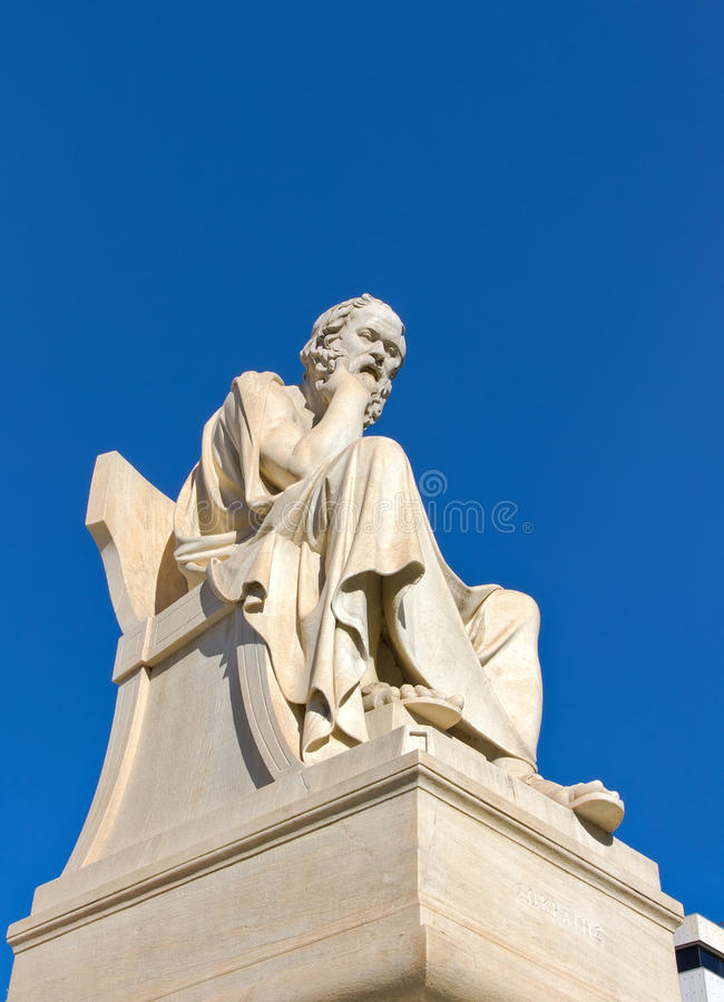 Socrates, Academy of Athens, Greece. The statue of Socrates, Academy of Athens, Greece royalty free stock photos