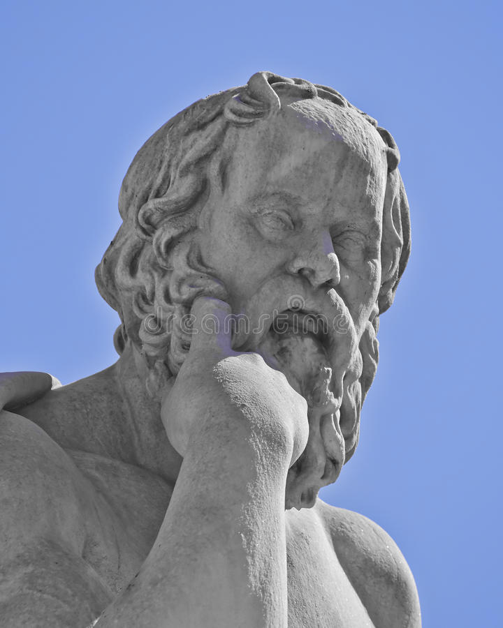 Socrates the ancient Greek philosopher. Statue royalty free stock photo