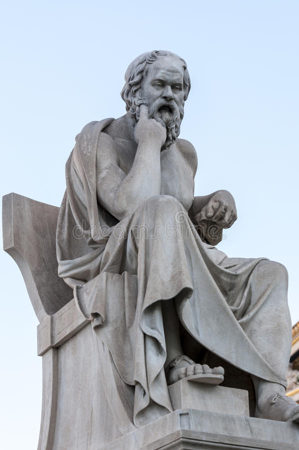 Socrates clássico do ratue fotografia de stock