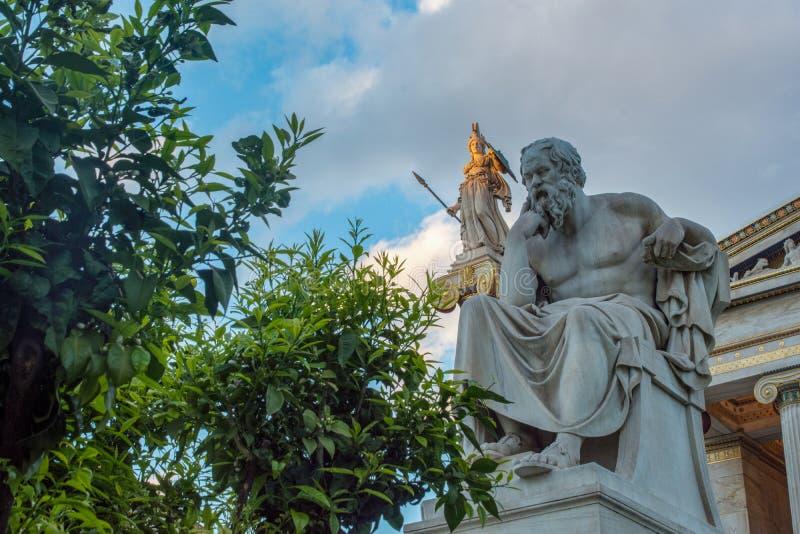 Socrates classico della statua fotografie stock libere da diritti
