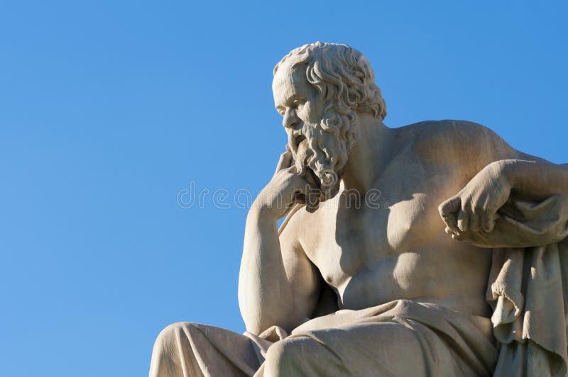 Socrates classico della statua fotografia stock libera da diritti