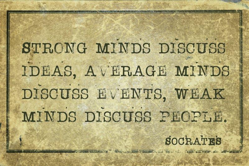 Socrates das mentes fotografia de stock