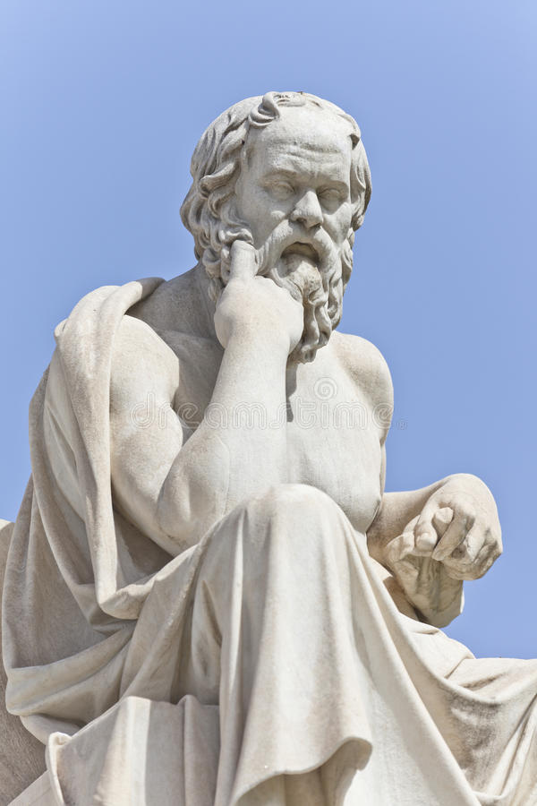 Socrates de philosophe du grec ancien photographie stock