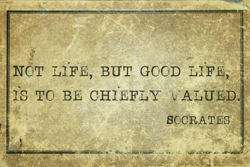 Socrates di buona vita fotografie stock