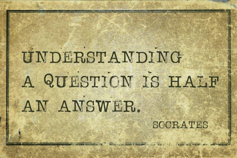 Socrates di domanda immagine stock