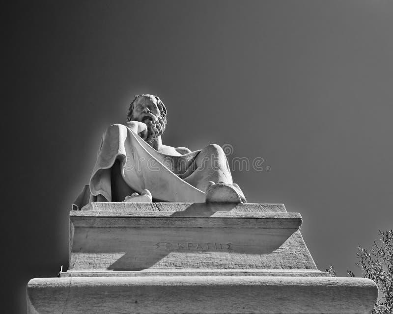Socrates, il filosofo del greco antico fotografia stock