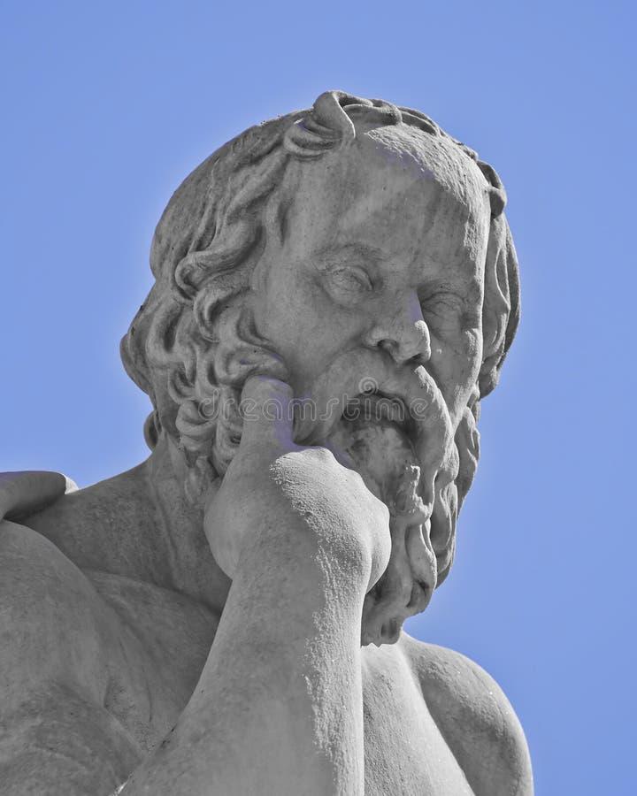 Socrates il filosofo del greco antico fotografia stock libera da diritti