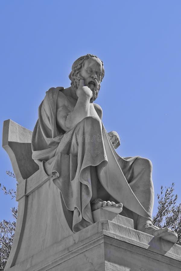 Socrates il filosofo del greco antico fotografia stock