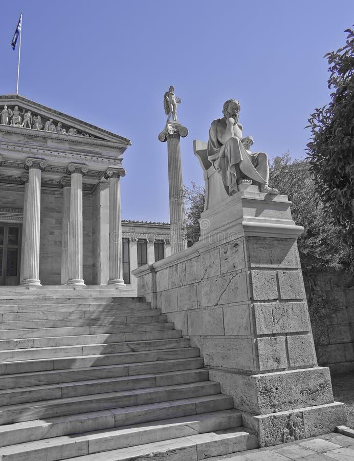 Socrates il filosofo e l'Apollo il dio delle arti immagini stock libere da diritti