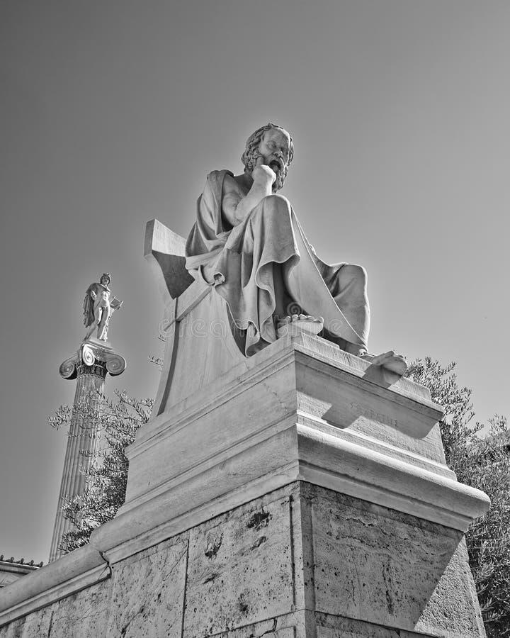 Socrates il filosofo e l'Apollo il dio di poesia e di musica fotografie stock libere da diritti