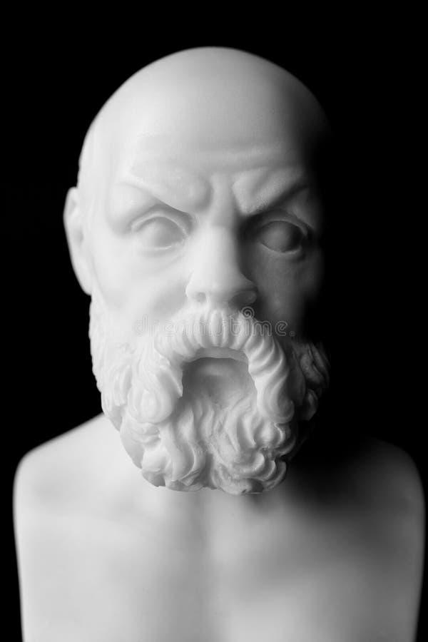 Socrates leefde in Athene (470 V.CHR. - 399 V.CHR.) was Griekse Athenian royalty-vrije stock afbeeldingen