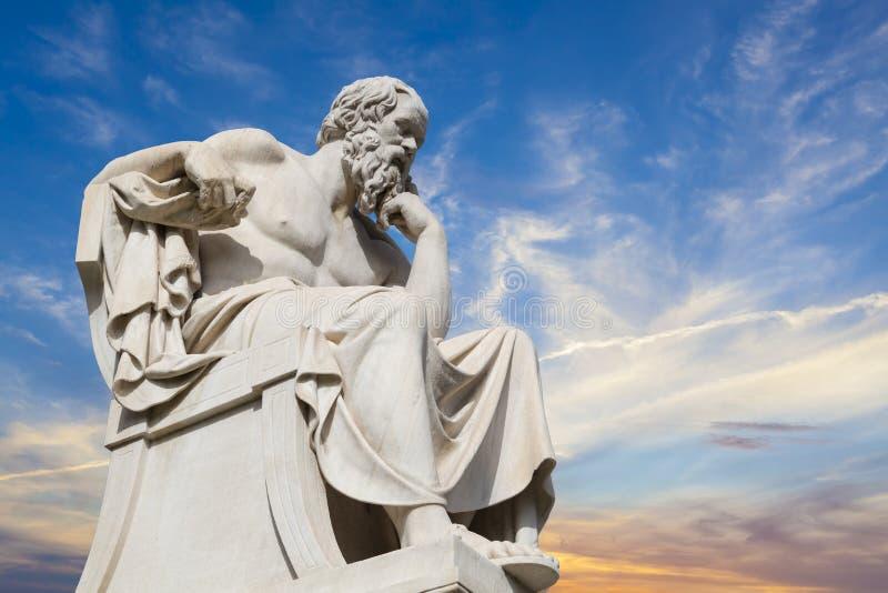 Socrates, oude Griekse filosoof royalty-vrije stock foto's