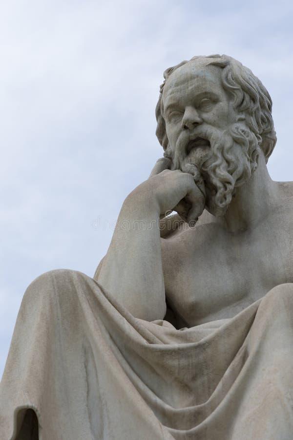 Socrates philoshopher经典雕象  免版税库存照片