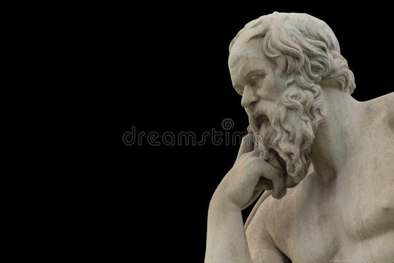 Socrates philoshopher经典雕象  免版税库存图片
