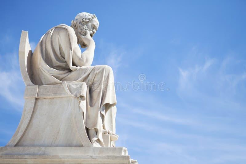 Socrates-standbeeld stock afbeeldingen