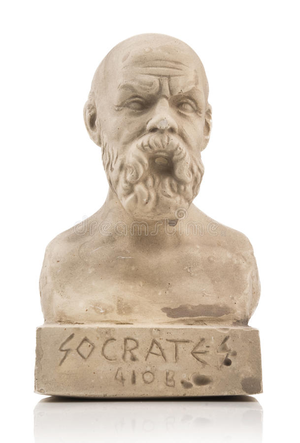 Socrates statue royalty free stock image