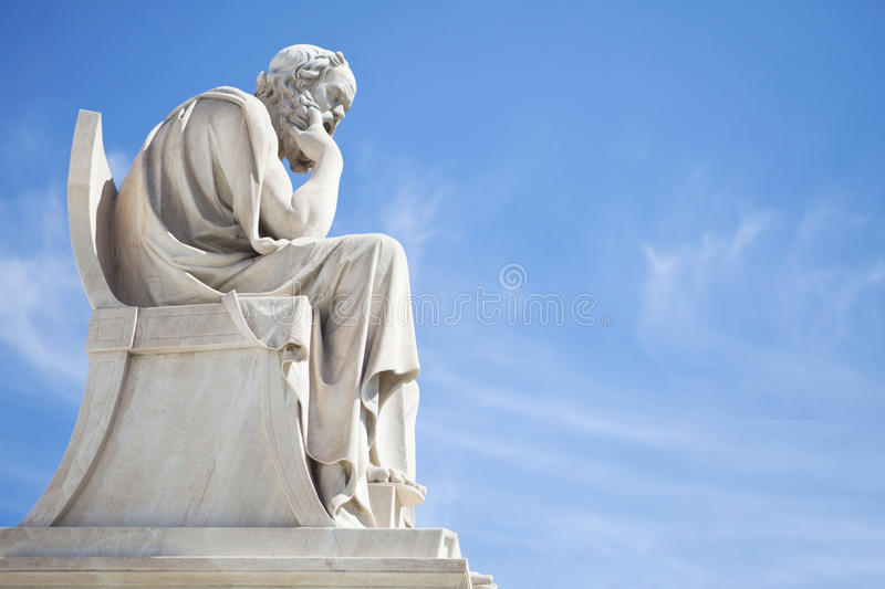 Socrates statue stock images