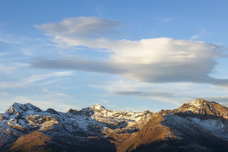 Soczewkowate chmury zdjęcie stock