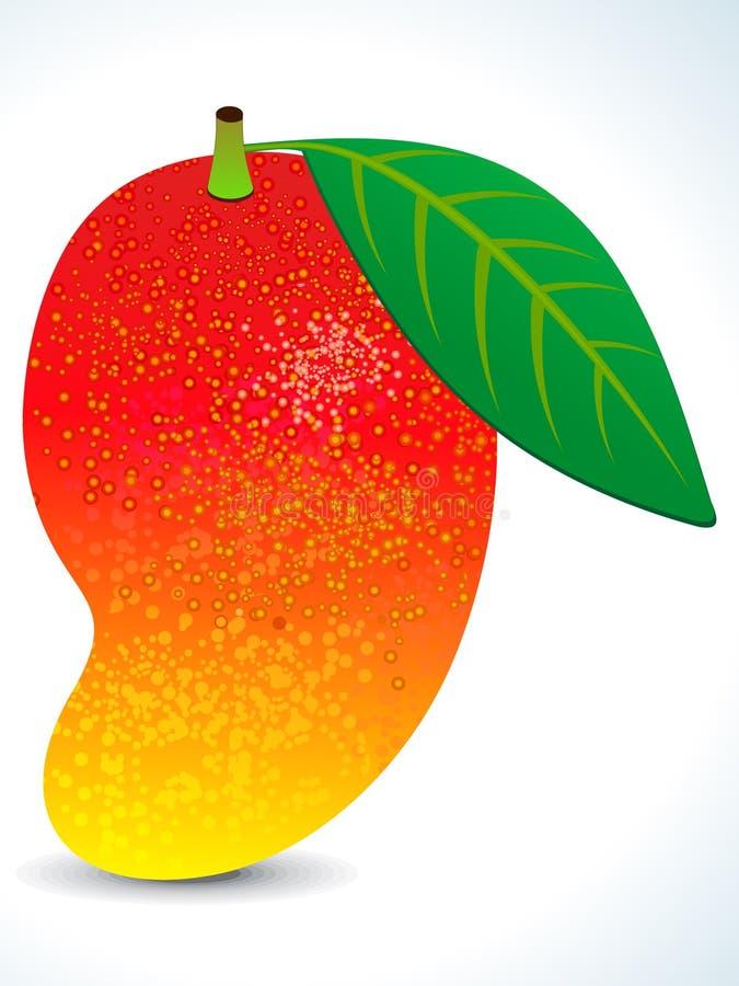soczysta liść mango czerwień royalty ilustracja