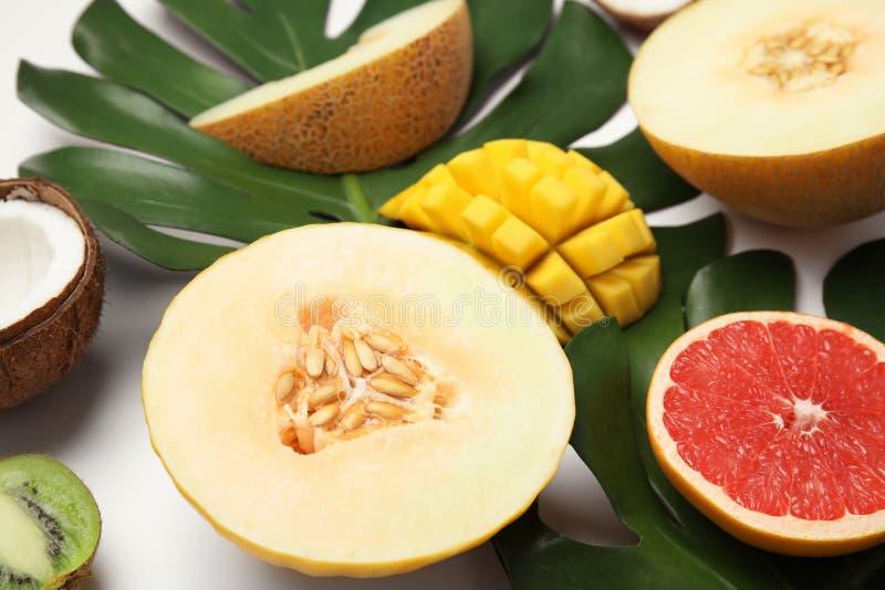 Soczyste melonowe i inne owoc fotografia stock