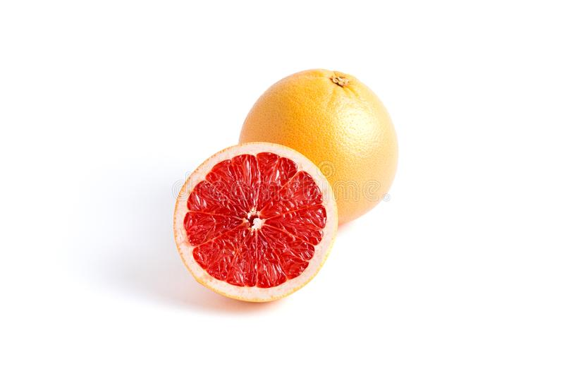 Soczysty grapefruitowy na białym tle obraz stock
