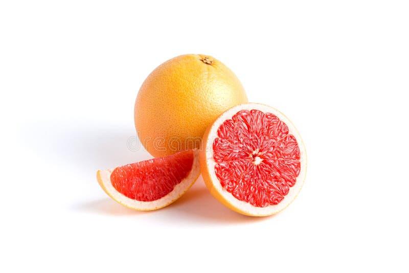 Soczysty grapefruitowy na białym tle obraz royalty free