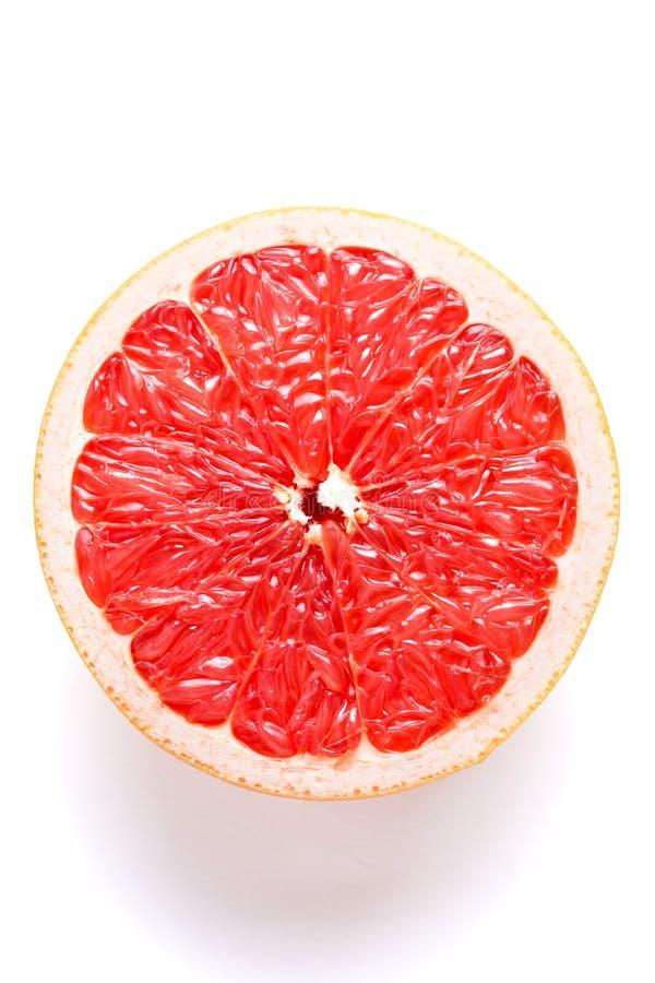 Soczysty grapefruitowy na białym tle obrazy royalty free