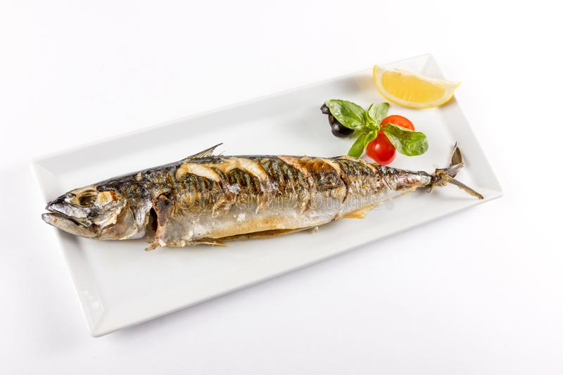 Soczysty kawałek ryba zdjęcie royalty free