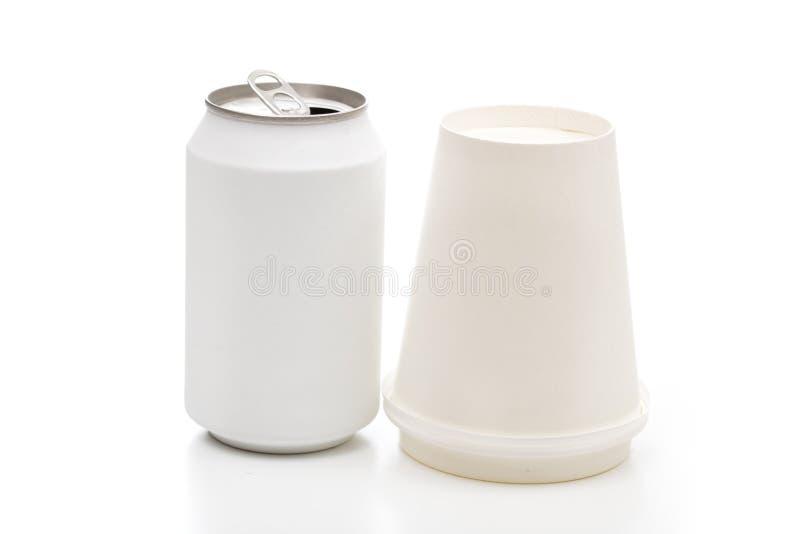 Soda auf dem weißen Hintergrund lizenzfreie stockbilder