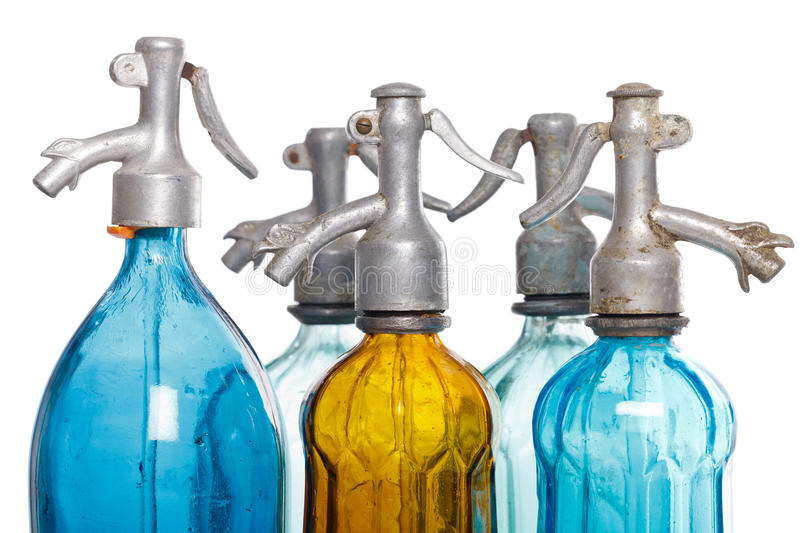 Soda bottles. Recyclable soda bottles on isolated white background stock photography