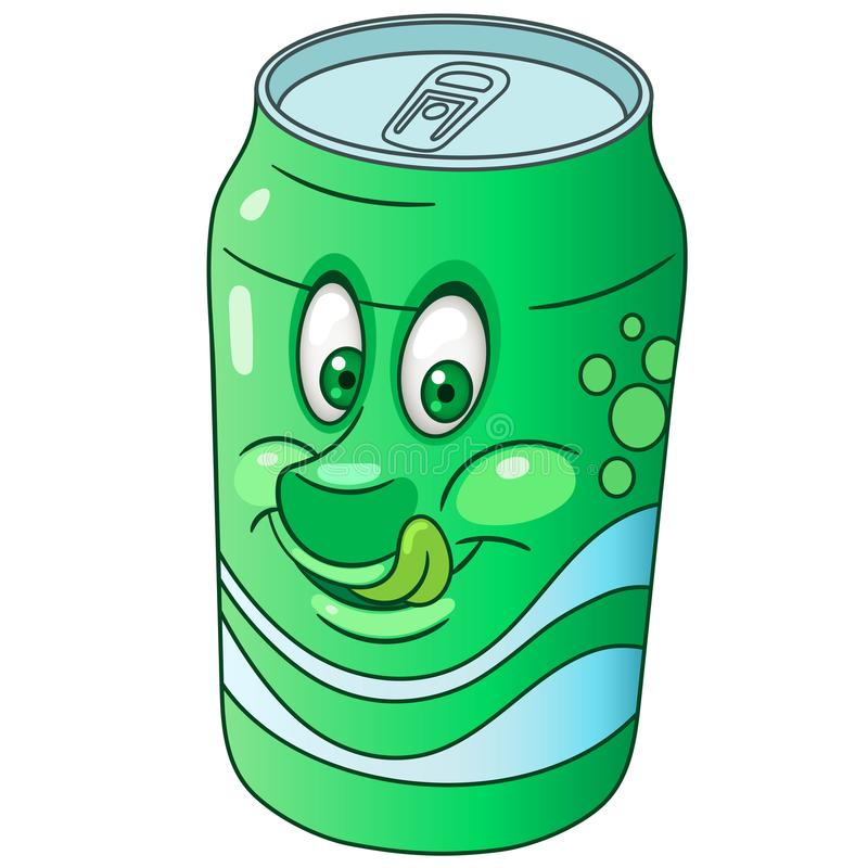 Cartoon soda can royalty free stock images