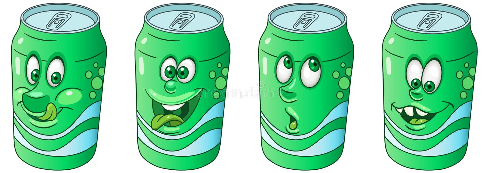 Soda Can. Drink Beverage Emoji Emoticon collection stock photography