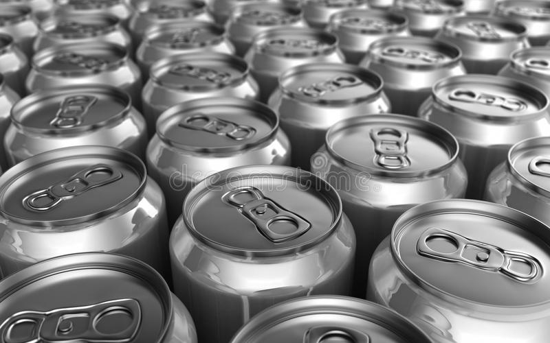Download Soda Cans stock illustration. Image of silver, concept - 19084001