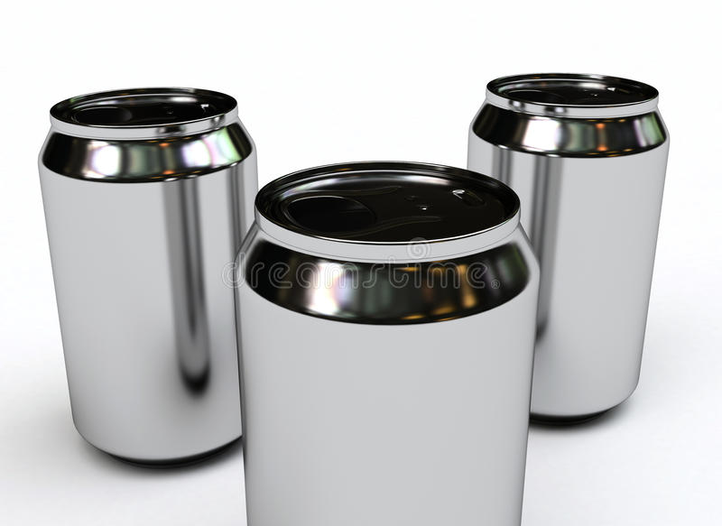 Download Soda cans blank stock illustration. Illustration of production - 12065792