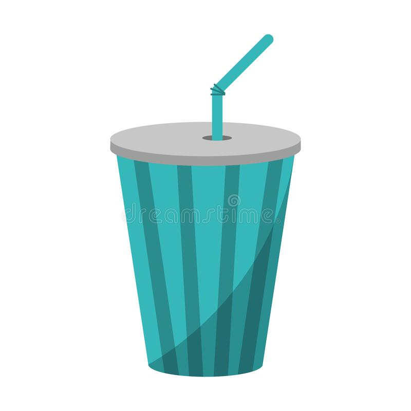 Soda cup with straw. Isolated vector illustration graphic design vector illustration