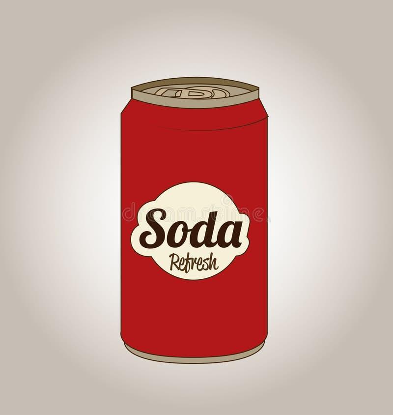 Soda design. Over gray background vector illustration vector illustration
