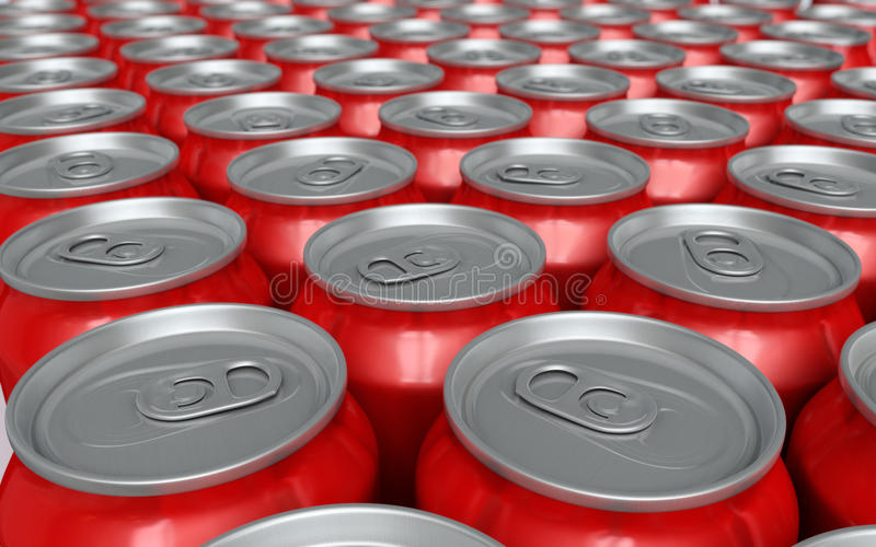 Soda Drink Cans Royalty Free Stock Images